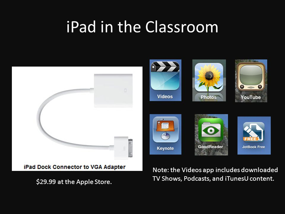 iPad in the Classroom $29.99 at the Apple Store.