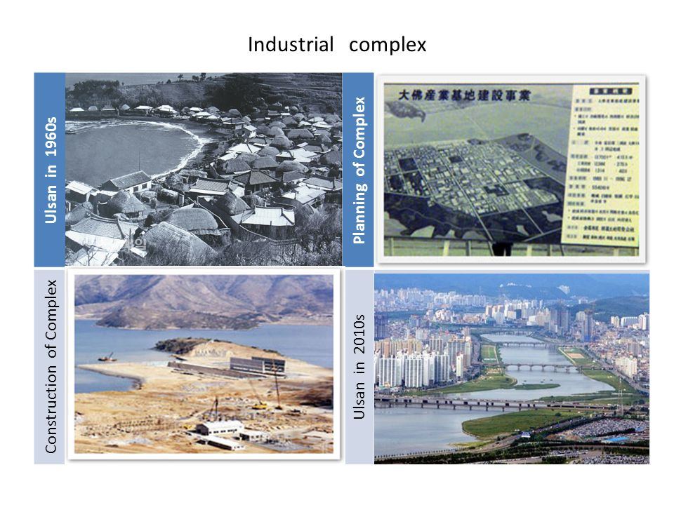 Industrial complex Ulsan in 1960s Planning of Complex Construction of Complex Ulsan in 2010s