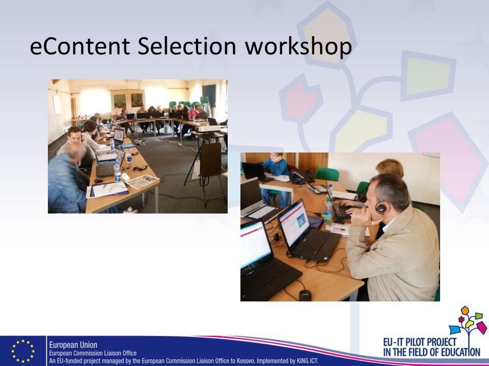 eContent Selection workshop