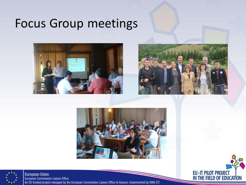 Focus Group meetings