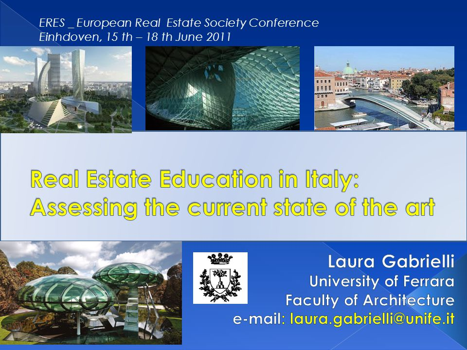 This paper aims to present the results of a research which is currently developed in Italy A new Law (Law Gelmini no.