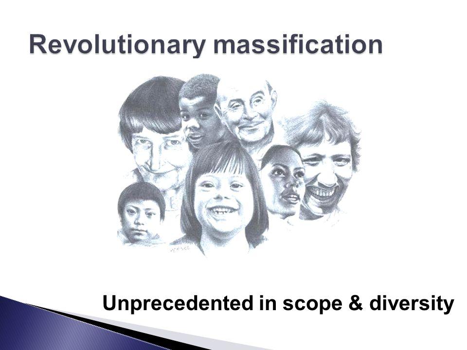 Unprecedented in scope & diversity