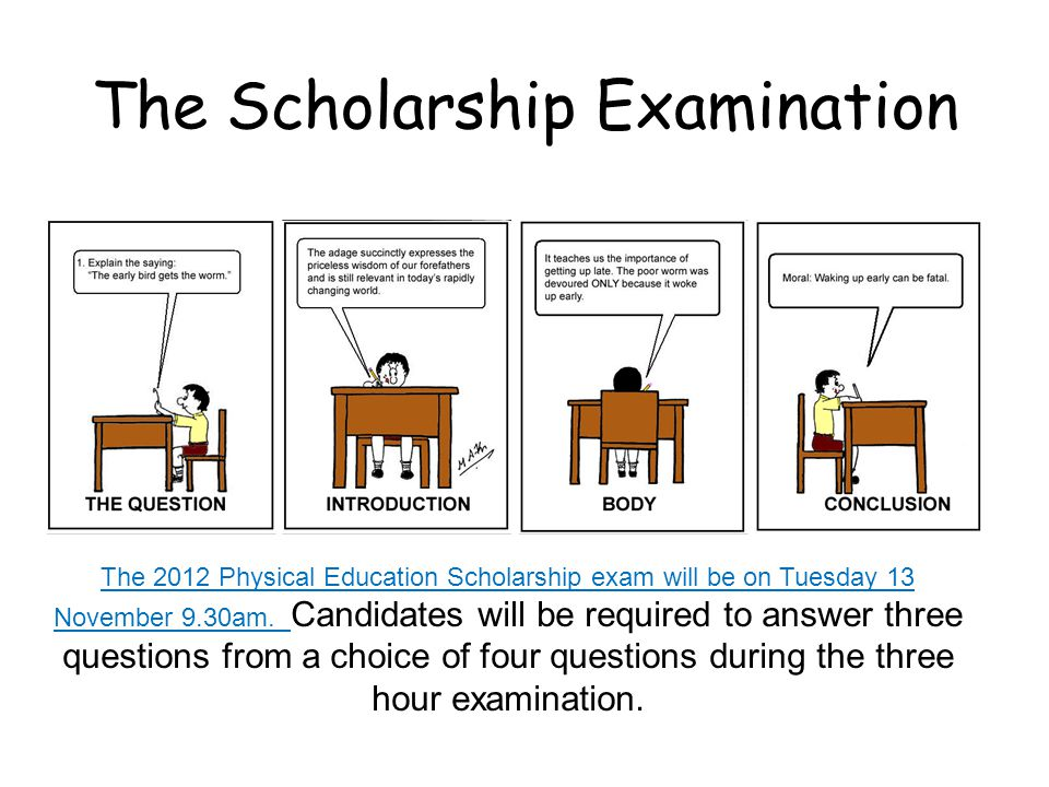 Examiners Report Why people did not get scholarship.