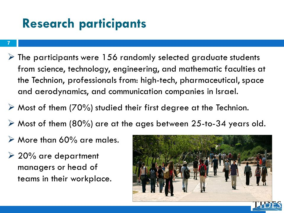 Research participants The participants were 156 randomly selected graduate students from science, technology, engineering, and mathematic faculties at