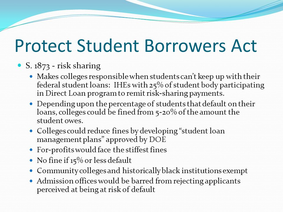 Protect Student Borrowers Act S.