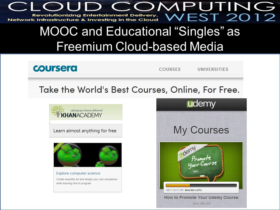 MOOC and Educational Singles as Freemium Cloud-based Media 10