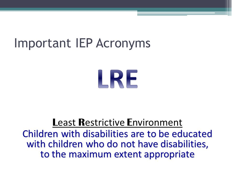 Important IEP Acronyms