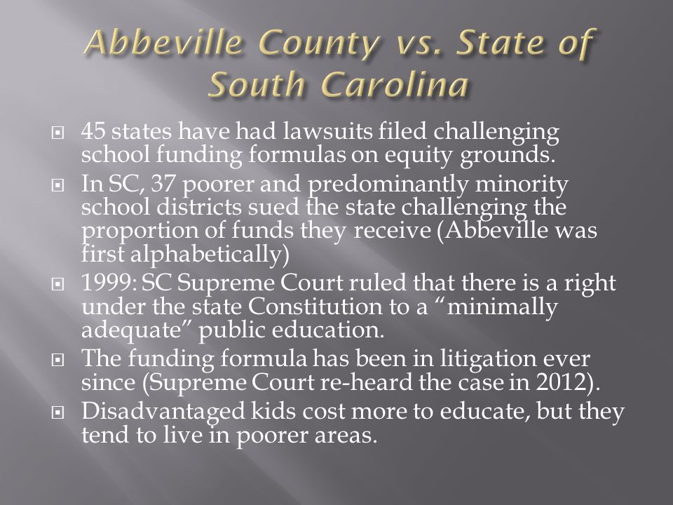 45 states have had lawsuits filed challenging school funding formulas on equity grounds.
