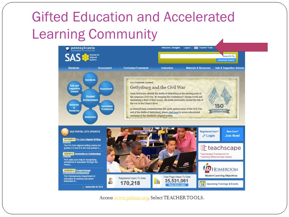 Gifted Education and Accelerated Learning Community Access