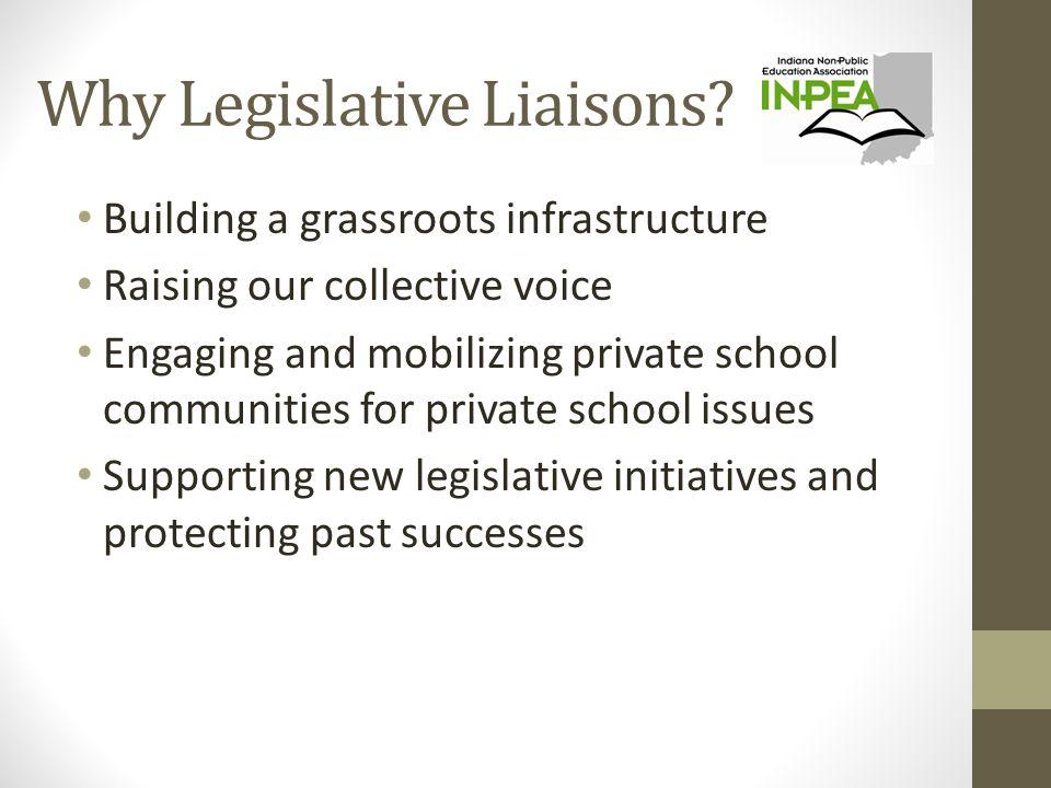 Why Legislative Liaisons.