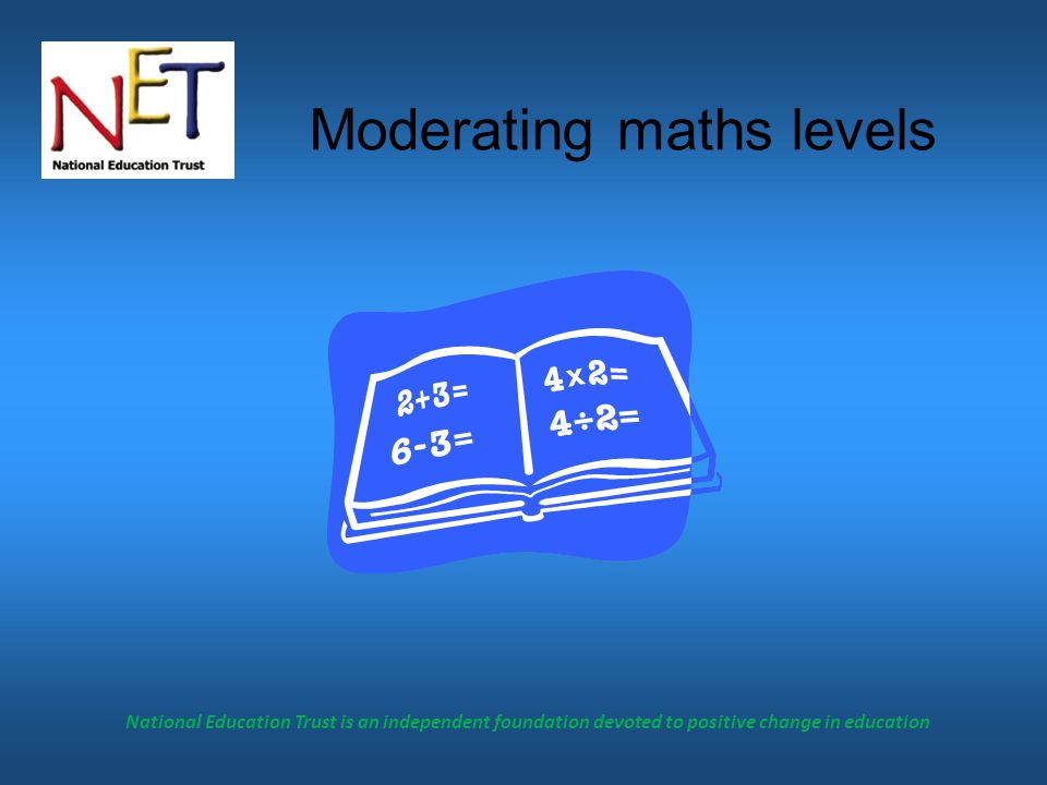 Moderating maths levels