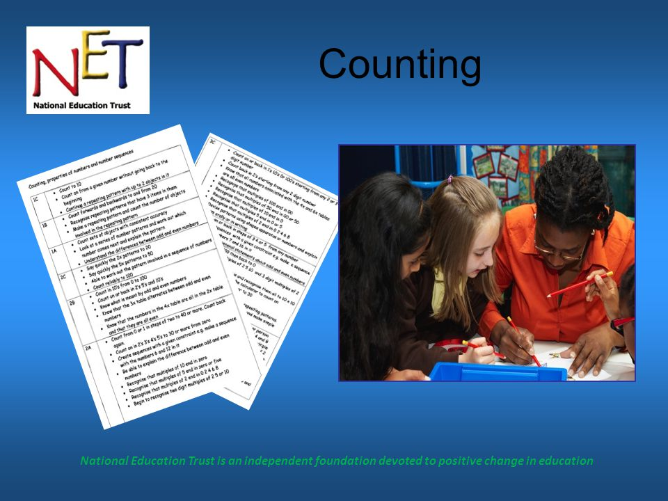National Education Trust is an independent foundation devoted to positive change in education Calculator skills
