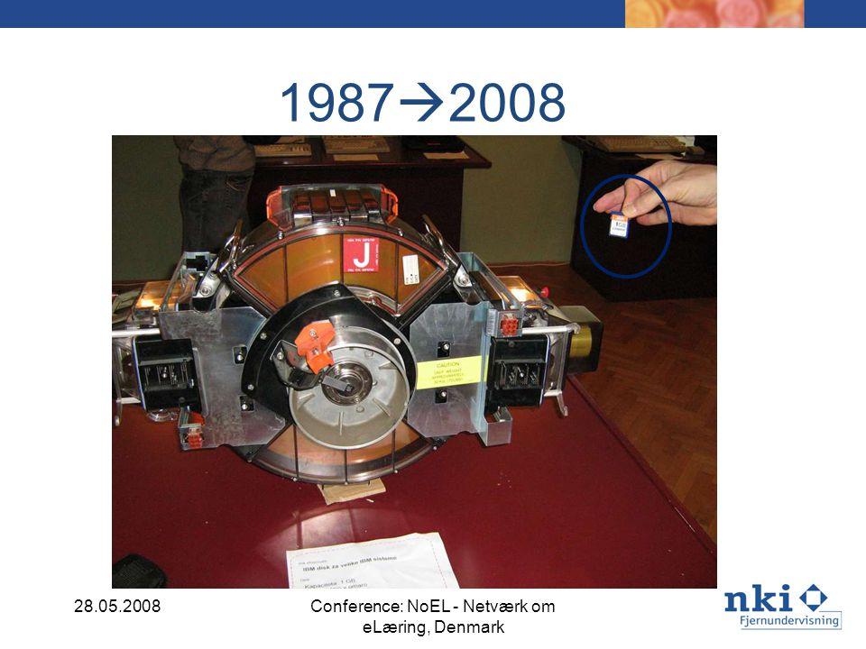 1987 2008 28.05.2008Conference: NoEL - Netværk om eLæring, Denmark