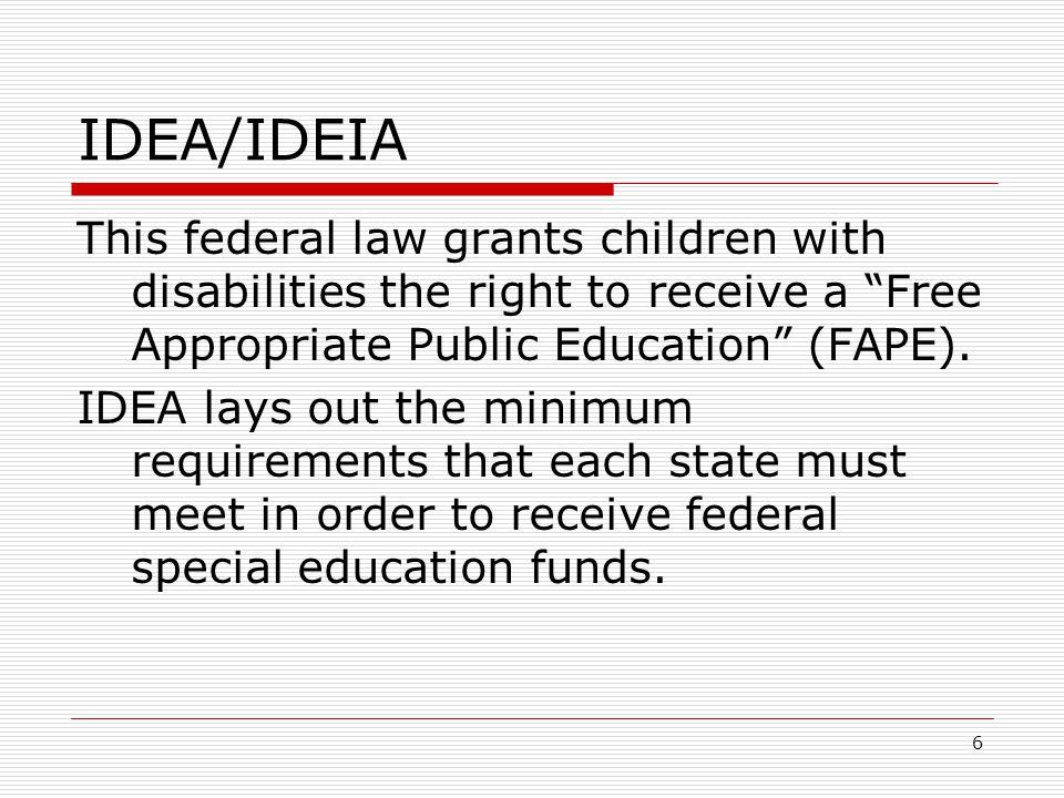 IDEA/IDEIA What are the 4 parts of IDEA/IDEIA.