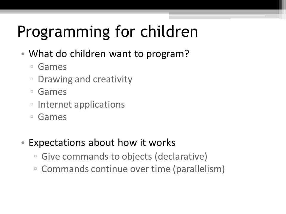 Programming for children Squeak