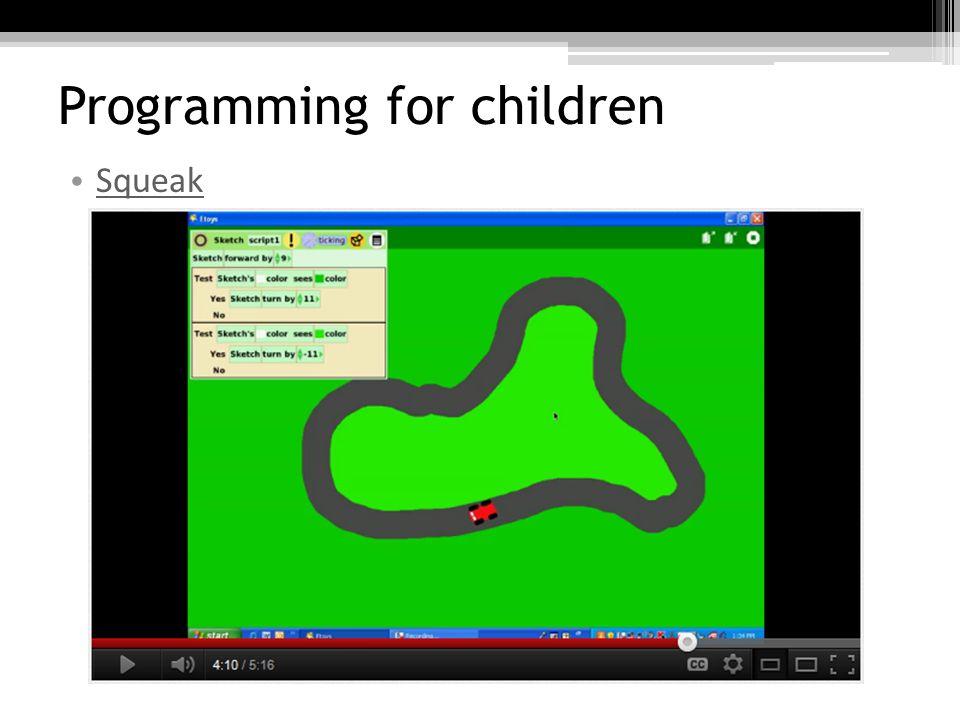 Programming for children Scratch / BYOB / Snap!