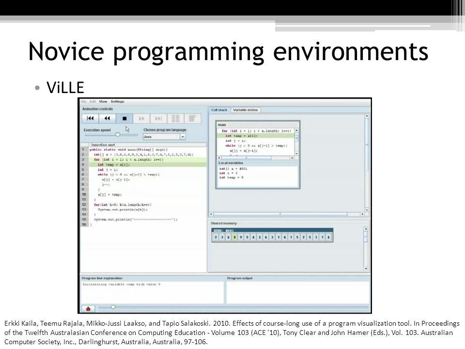 Novice programming environments CSTutor Sarah Buchanan, Brandon Ochs, and Joseph J.