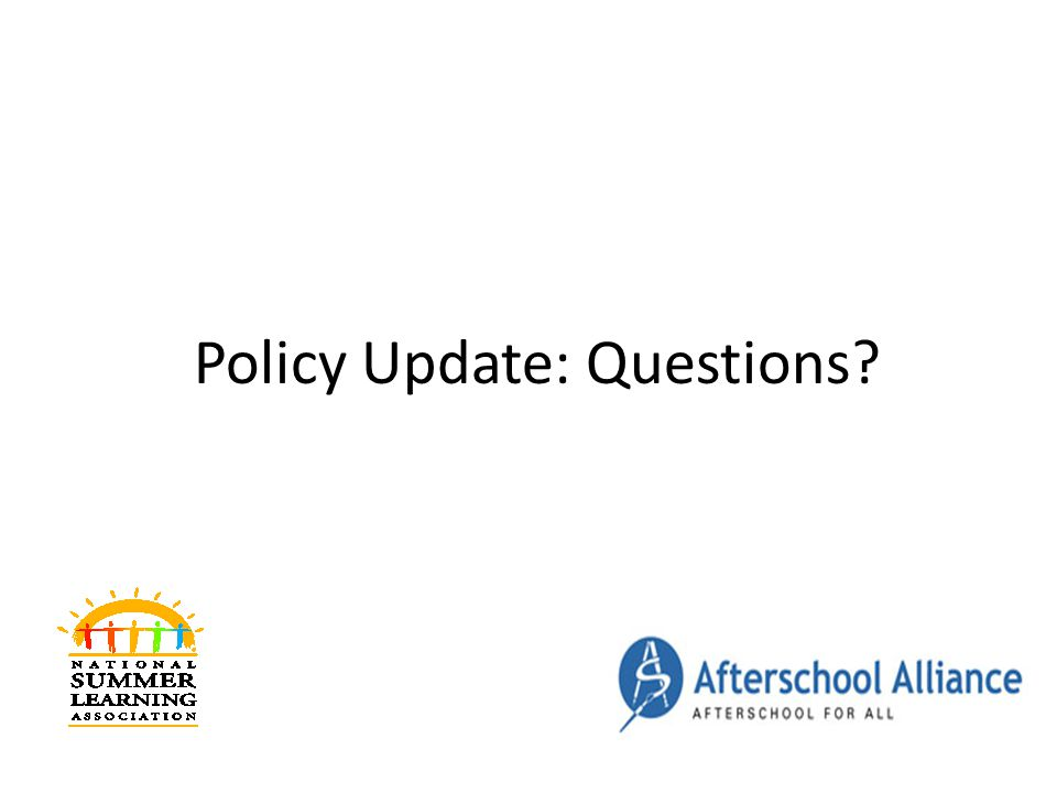 Policy Update: Questions