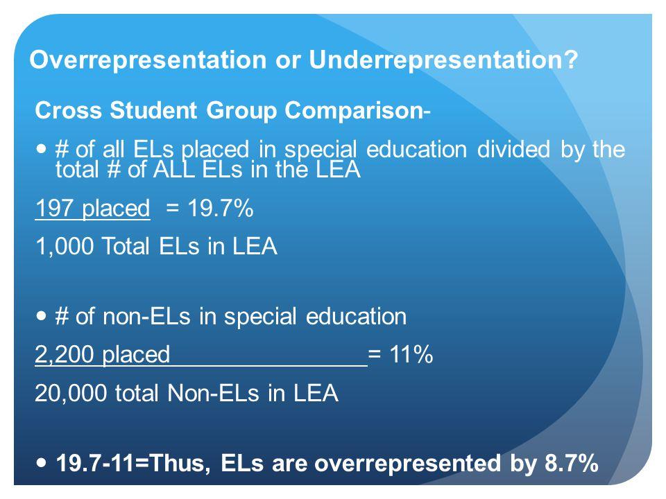 Overrepresentation or Underrepresentation.