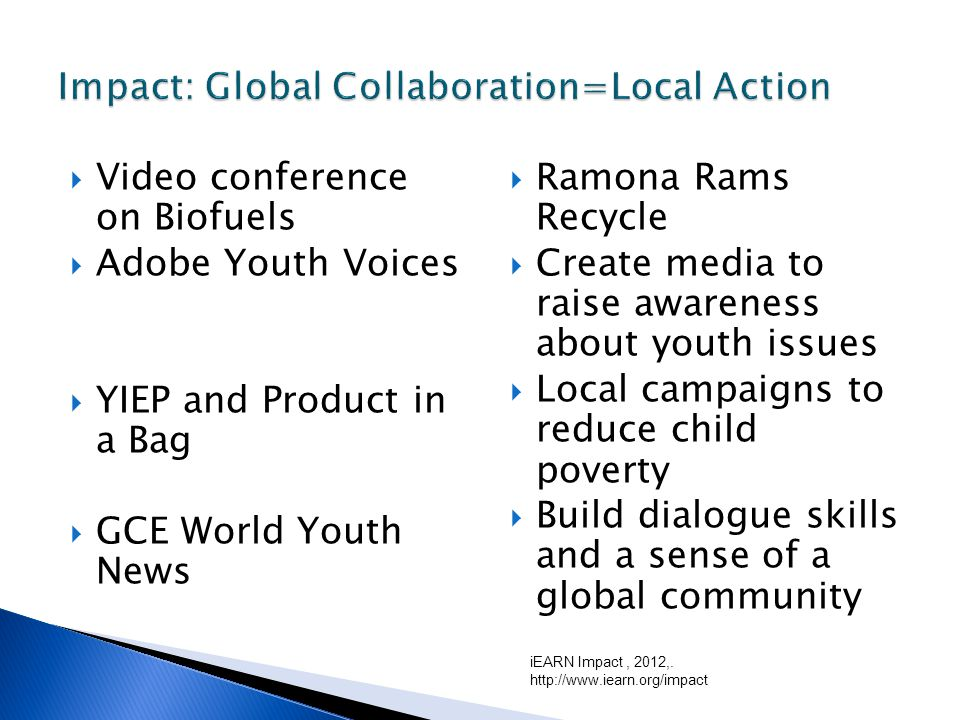 Adobe Youth Voices iEARN Pangea QR Code Project Youth Innovation and Entrepreneurship Program (YIEP) GCE World Youth News iEARN Website QR Code : Learn new skills to integrate technology into classroom lessons.