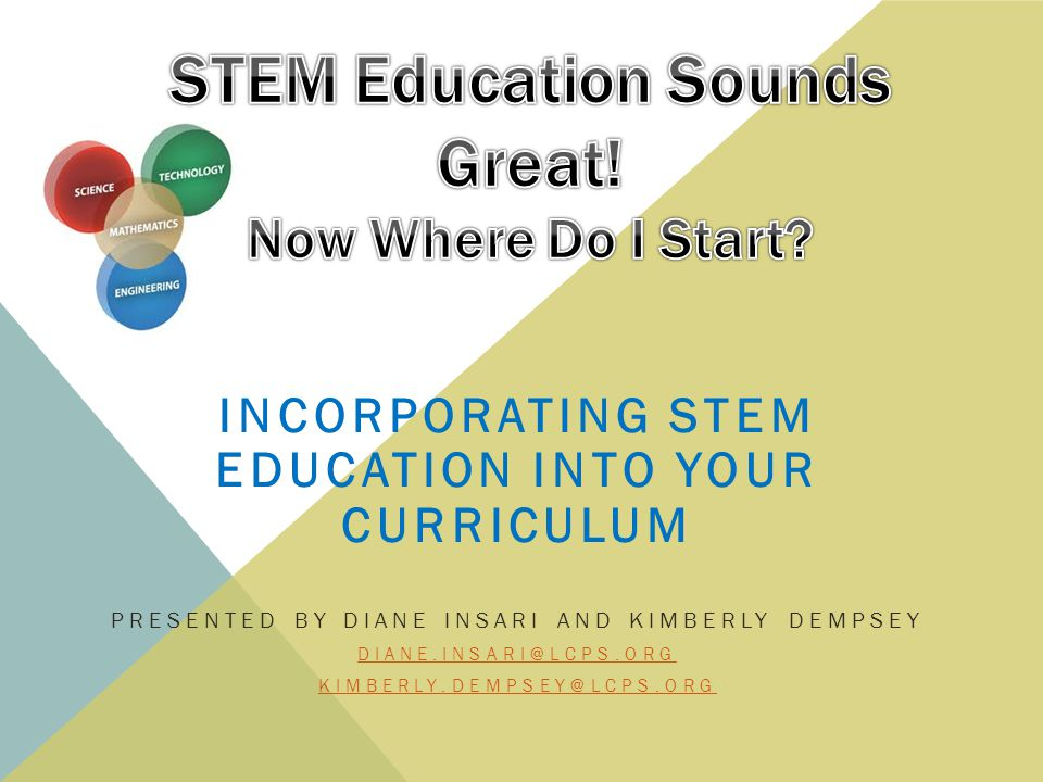 THE STEM PHILOSOPHY Teacher as Facilitator Hands-On Exploration Trial and Error More Than One Right Answer Integrated Curriculum