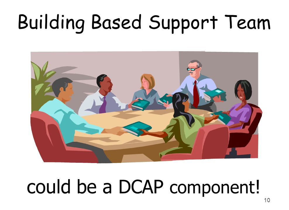10 Building Based Support Team could be a DCAP component !