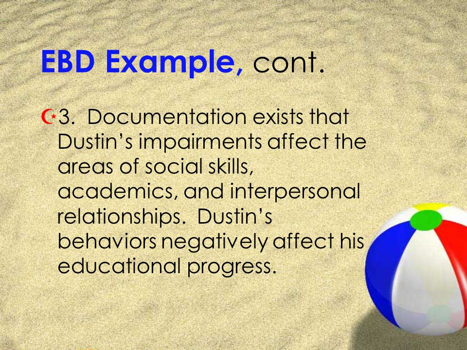 EBD Example, cont. Z3.