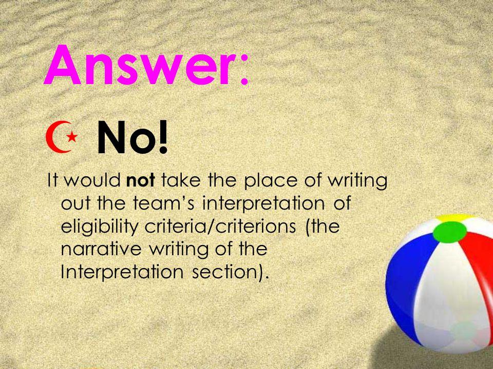 Answer : Z No.