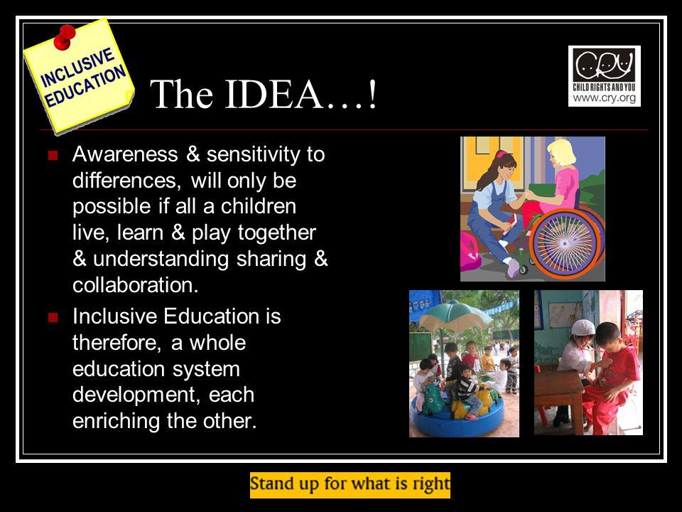 The IDEA….