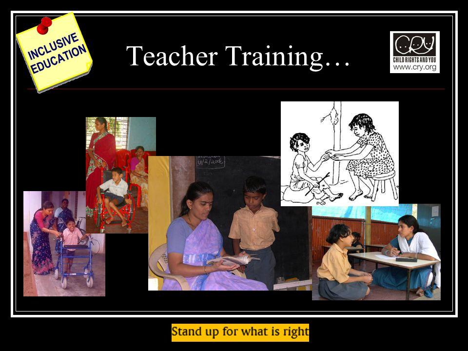 Teacher Training…