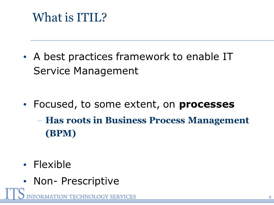 What is ITIL.