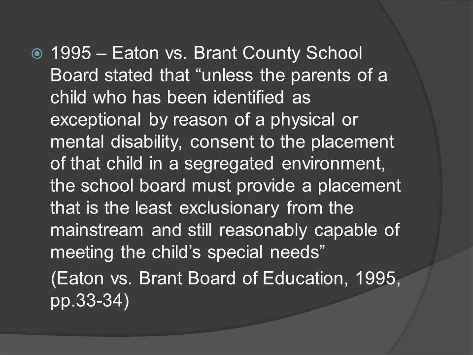 1995 – Eaton vs.