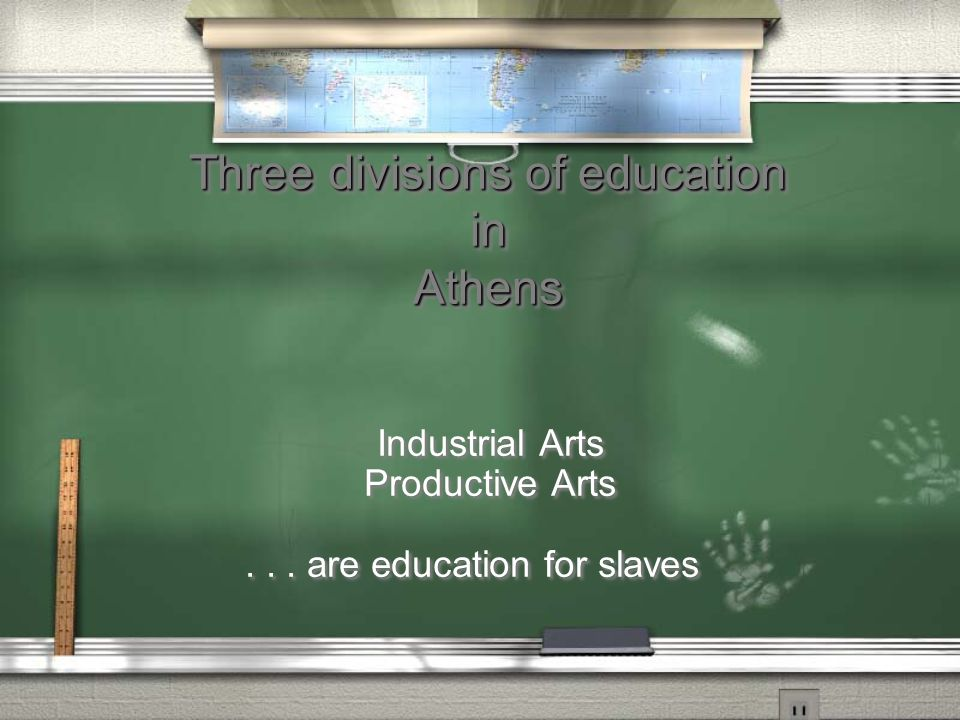 Three divisions of education in Athens Liberal Arts...