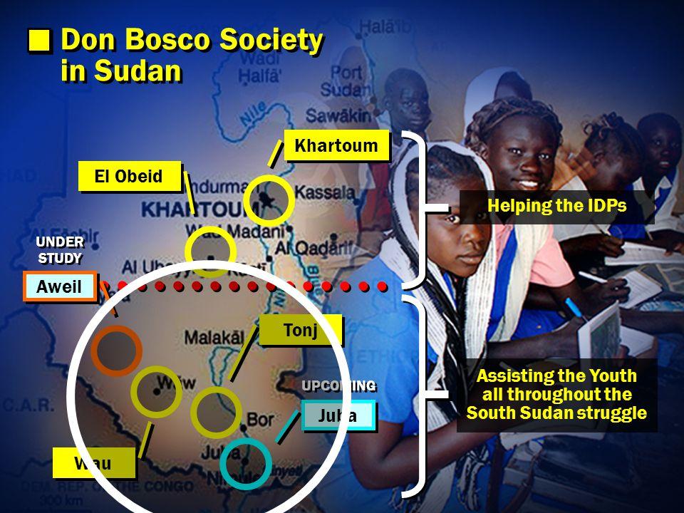 Don Bosco Institute for Entrepreneurship Development REPATRIATION OF IDPs REABILITATION OF CHILD SOLDIERS parallel programmes