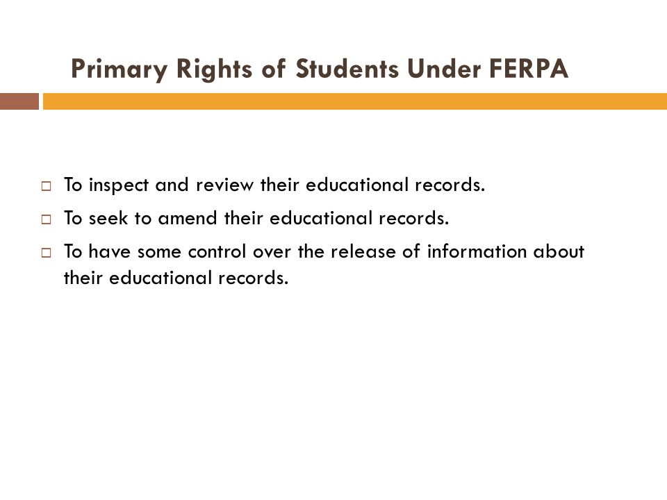 Definition of Educational Records Educational records are all records that contain information that is directly related to a student and Are maintained by an educational agency or institution or by a third party acting on the behalf of the agency or institution.