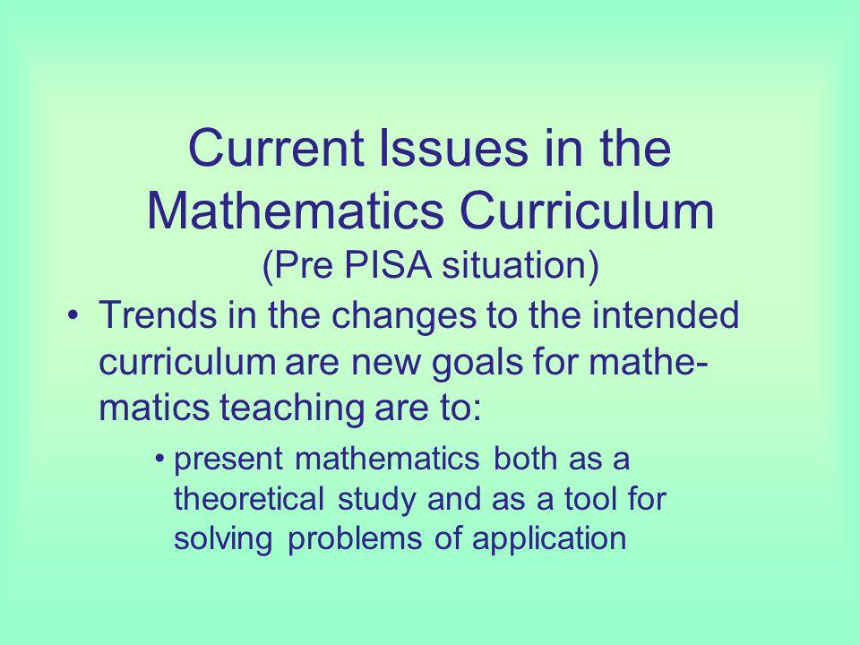 Mathematics research (e.g. fractals) has not influenced mathematics teaching.