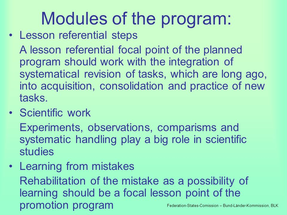Federation-States- Commission for education planning and research promotions Program: Increasing the efficiency of mathematical-scientific studies Fed