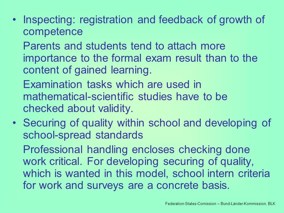 Developing of tasks for cooperation of students Cooperative working forms make students to bring thoughts into spoken words, to argumentate, to see other perspectives and go along with discrepant points of views and judgements.