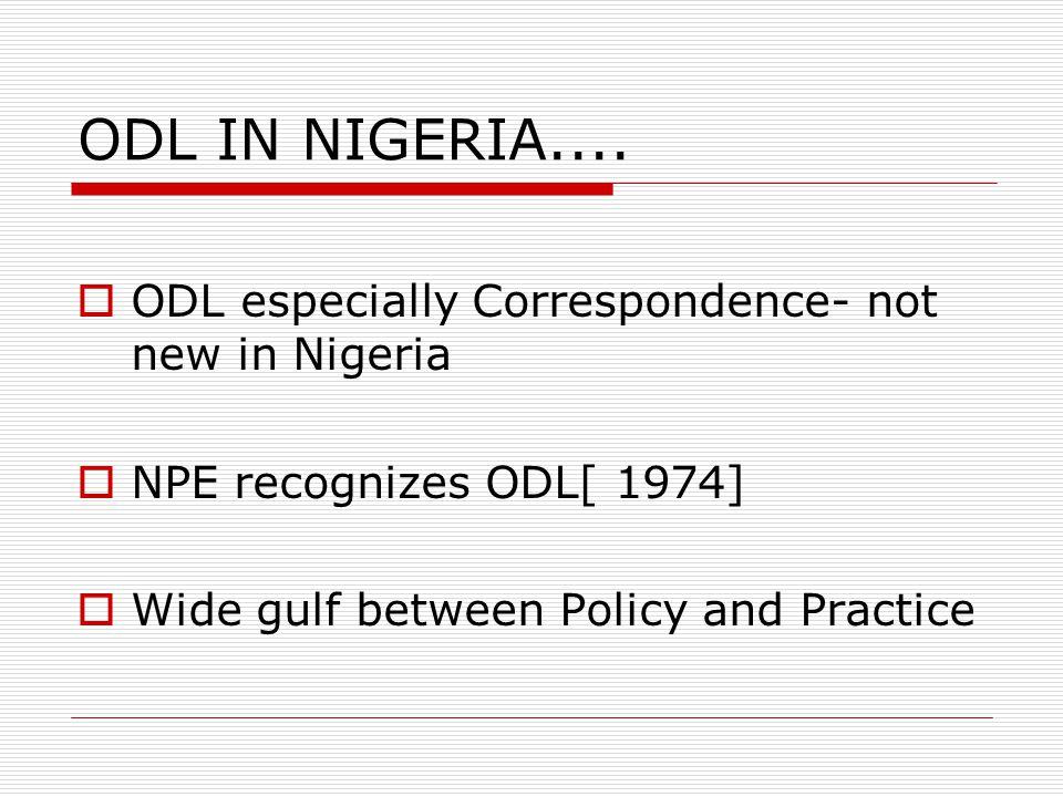 ODL IN NIGERIA....