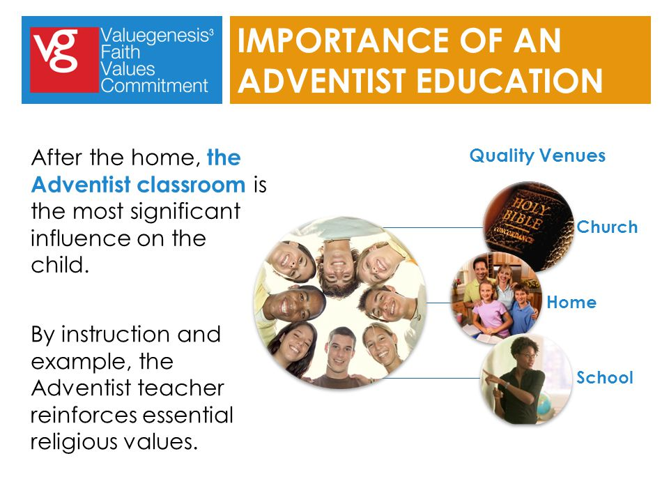 After the home, the Adventist classroom is the most significant influence on the child.