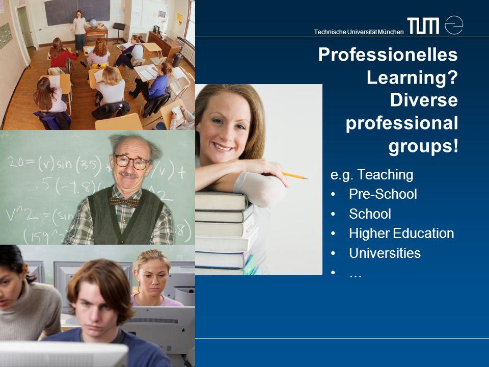 Technische Universität München Professionelles Learning.
