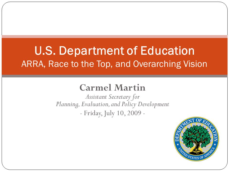Race to the Top: Overview $4.35 billion competitive grant fund to encourage and reward states making dramatic education reforms, especially in the four assurance areas.