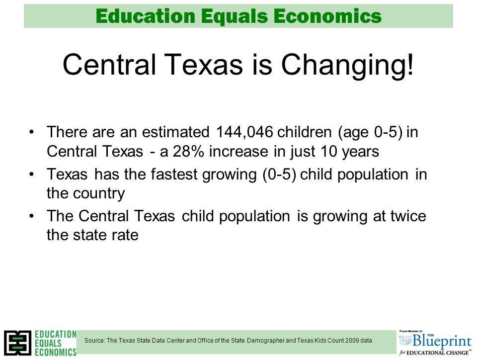 Education Equals Economics Central Texas is Changing.