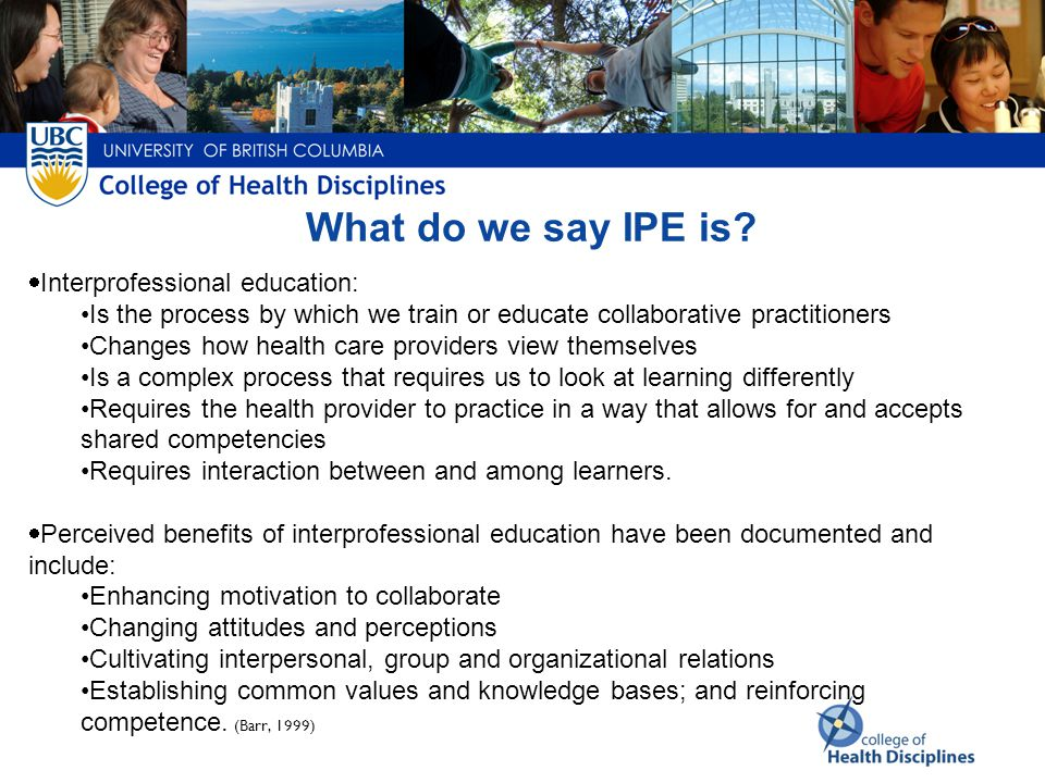 What does it look like if IPE is not evident What does it look like if IPE is evident IPE