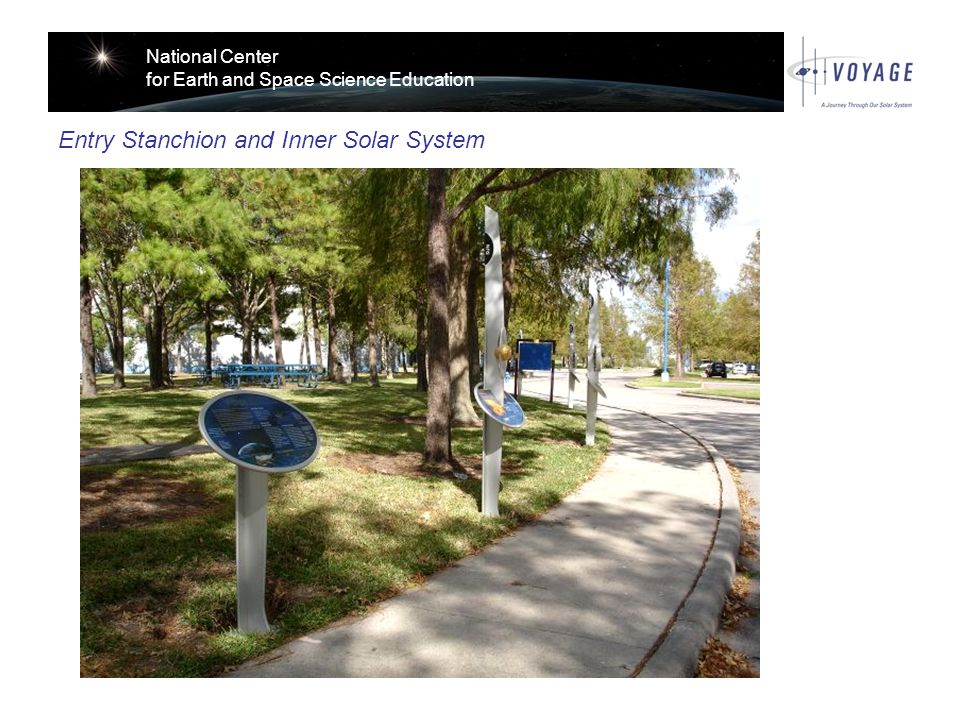 National Center for Earth and Space Science Education Entry Stanchion and Inner Solar System