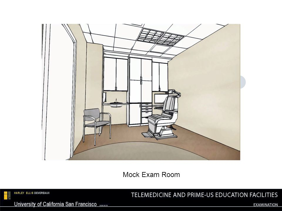 Four Telemedicine Training rooms Four 24 student classrooms (22 x 22), which can expand to two 48 student classrooms (44 x 44) Capable of being receive site for training sessions being held in simulation center Front screen projection Four 52 LCD displays 2 wall-mounted video cameras Ceiling Installed Speakers DVD/VCR combo player Wall-mounted and wireless AV control panels Wireless Microphones AV equipment per room