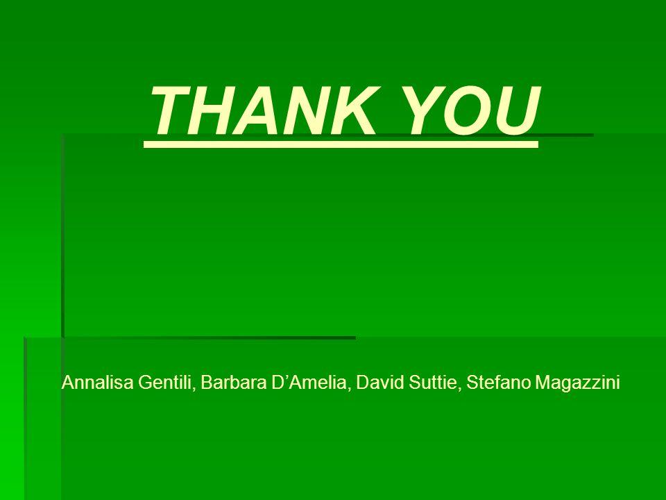 THANK YOU Annalisa Gentili, Barbara DAmelia, David Suttie, Stefano Magazzini