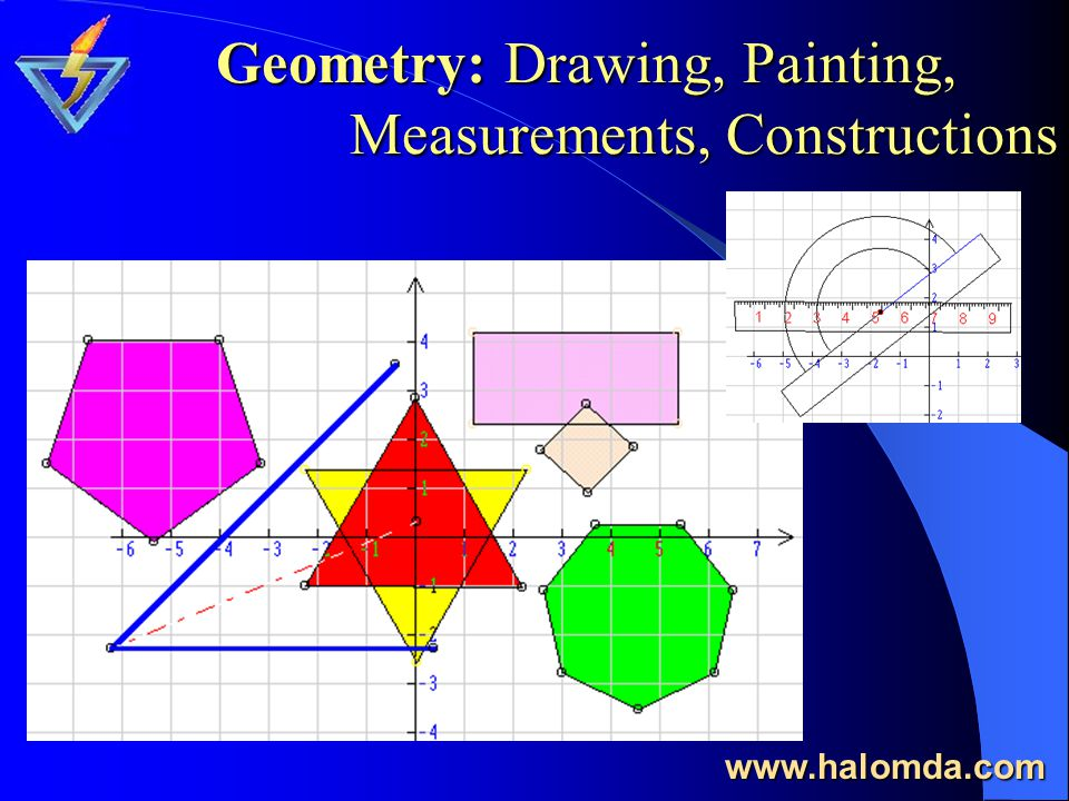Geometry: Drawing, Painting, Measurements, Constructions www.halomda.com