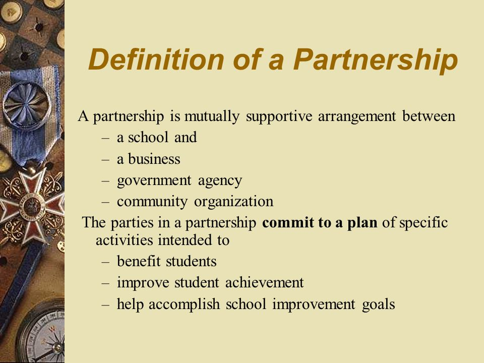 Business Partners In Education The Basics for New Partnership Liaisons