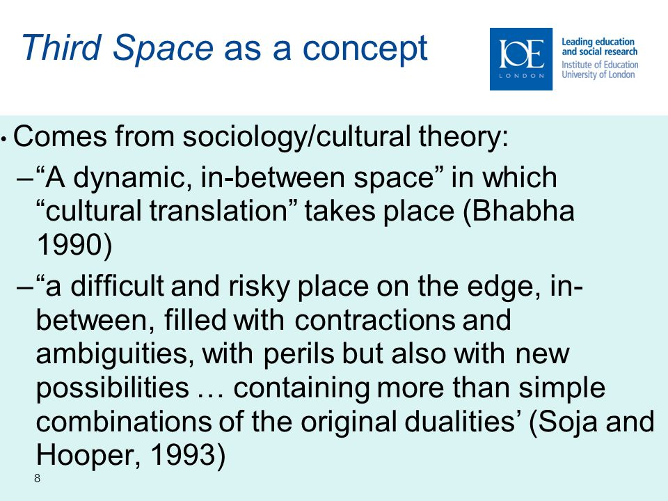 9 Spaces Ambiguous conditions arising from working at interfaces: –Sometimes an academic unit, sometimes an office (learning partnerships manager) –Turning this to advantage… –Not associated with specific agendas Sense of being under the radar Reflected in invisible workforces (Rhoades 2010) and secret managers (Kehm 2006)